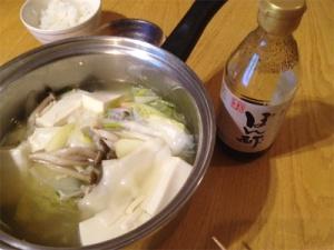 白だし湯豆腐