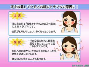 汗による塩害と酸化
