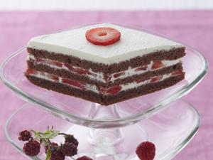 ひし餅風イチゴのレイヤーケーキ