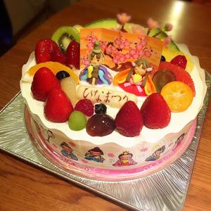 まこっぺひな祭りケーキ