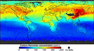 世界大気汚染地図