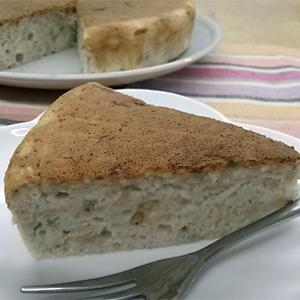 卵白で作るバナナケーキ