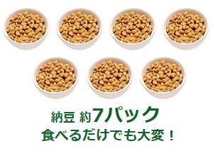 食材で摂るタンパク質量納豆